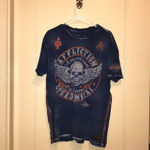 XL distressed Affliction T